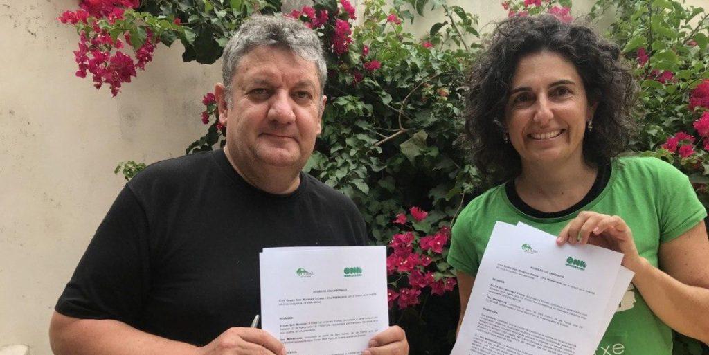 Signatura de l'acord entre Ona Mediterrània i Ecotxe.