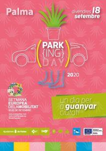 Cartell de l'edició 2020 del PARK(ing) Day de Palma.